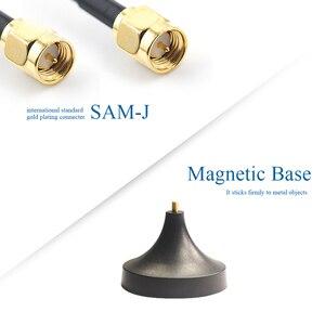 Image 4 - 2 stücke 2,4G Wifi Antenne Bluetooth Antena 2,4 GHz Router Antennen mit Magnetische Basis SMA Männlichen 2400M Modem luft TX2400 XPL 150