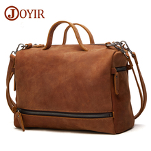 JOYIR Genuine Leather Crossboby Bags For Women Men Large Messenger Bags Casual Business Crossbody Bag Leather Shoulder Bags Male