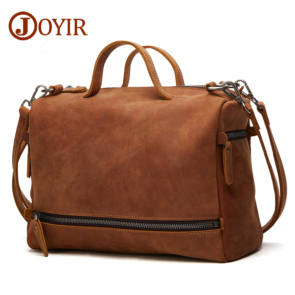 JOYIR Genuine Leather Crossboby Bags For Women Men Large Messenger Bags Casual Business Crossbody Bag Leather Shoulder Bags Male joyir hot sell shoulder bags for male genuine leather messenger soft bag solid color locking buckle crossbody clutch package
