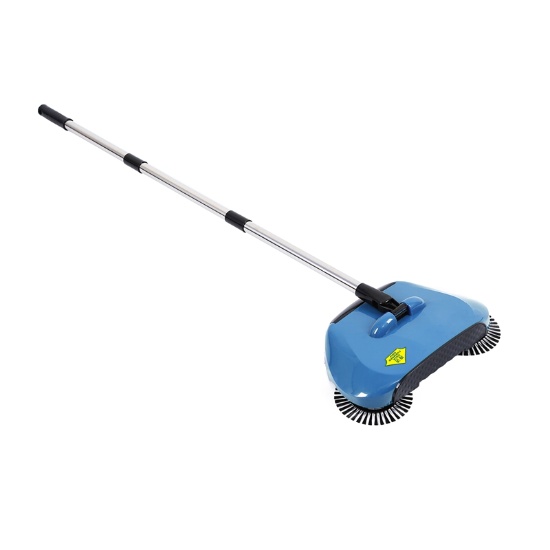 Stainless Steel Sweeping Machine Push Type Hand Push Broom Dustpan Handle Household Cleaning Package Hand Push Sweeper Mop Blu(China)