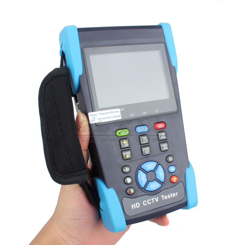 Blueskysea 3.5 LCD HD-AHD/CVI/TVI/SDI Camera CCTV Tester Monitor CVBS Test PTZ Control UTP