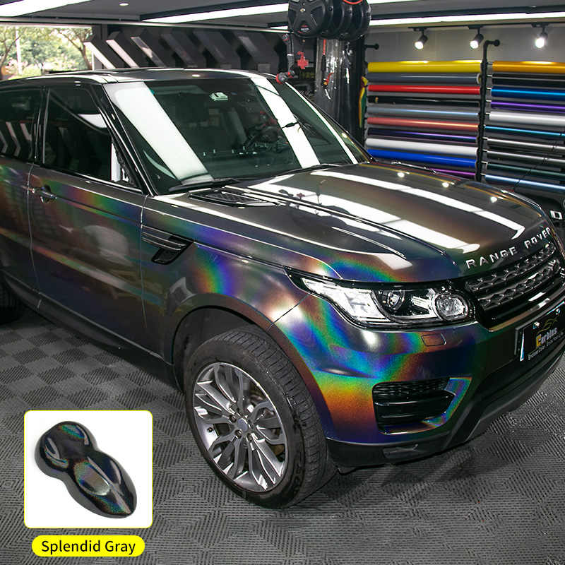 CARBINS Film splendide gris voiture enveloppes Premium qualité 3 M couleur psychédélique 5 * 60ft Air bulle gratuit