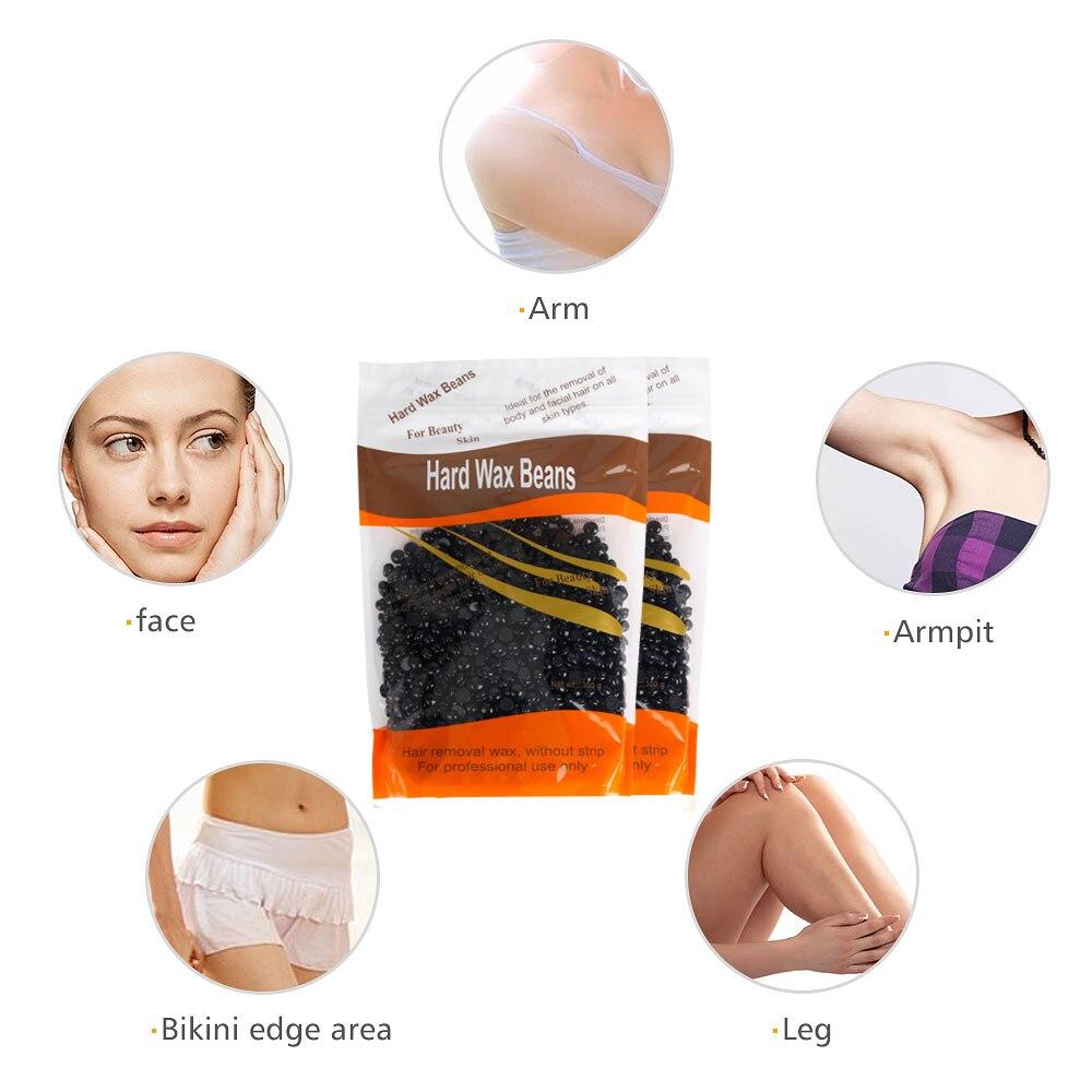New Brazilian Wax Depilatory Hot Film Hard Wax Pellet Waxing Underarm Bikini Hair Removal Bean No Strip Body Waxing Beauty Care