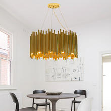 Postmodern designer simple personality villa hall Chandelier Galliano round chandelier Advanced art lamp Light luxury Chandelier