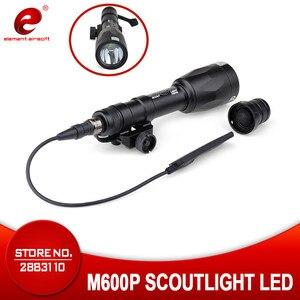 Airsoft Element Gun Weapon M600P Scout Light Softair Super Bright Flashlight For 20mm Weaver Picatinny Rail Base 630 Lumen EX362