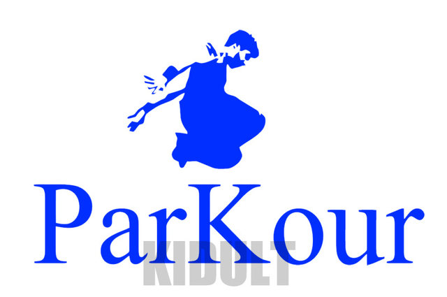 Online Shop Creative Parkour Wall Decals Sports Figures Wallpaper
