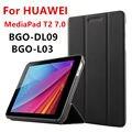 Case PU Для Huawei MediaPad T2 7.0 Защитные Смарт обложка Искусственного Кожаный Планшет Для HUAWEI BGO-DL09 BGO-L03 PU Protector
