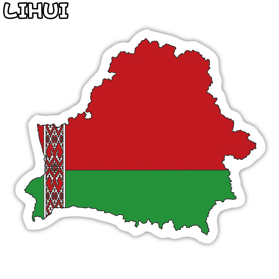 1 PCS Belarus Flag Sticker Toys For Children Countries Map Travel Stickers To DIY Scrapbooking Suitcase Luggage Laptop Car Motor