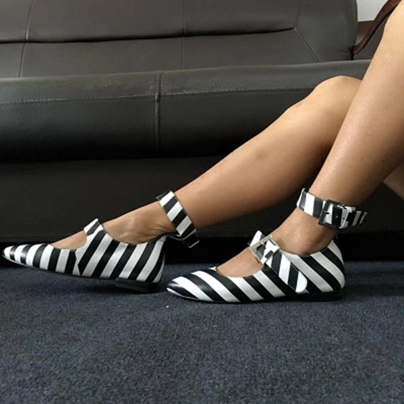 Chaussures Stripe Dames Haute Zebra Appartements Picture Grand Fille As Cheville Femmes Style Boucles Ballet De Élégant Qualité Mode Boucle 8xzq5W5n