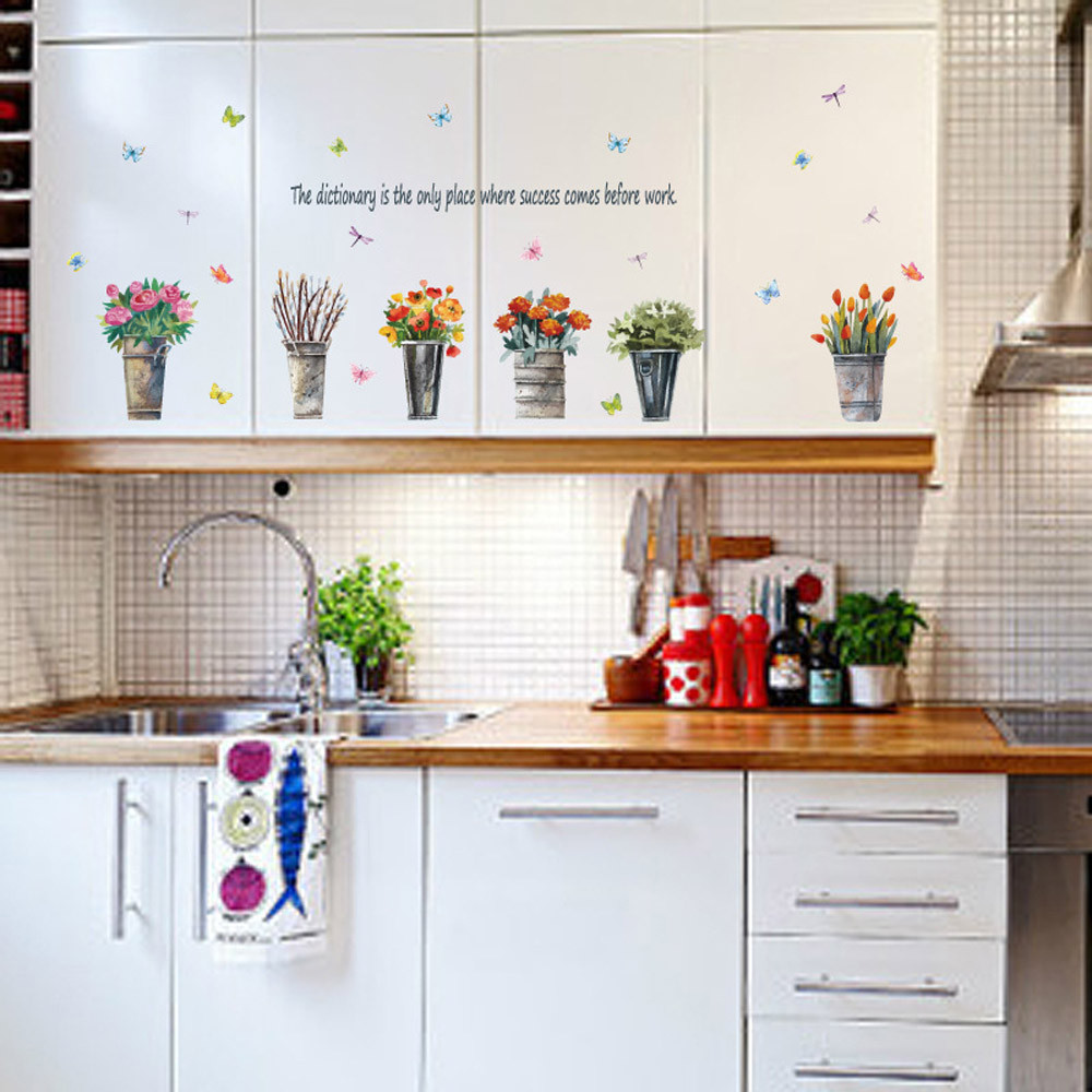 Wallpaper Sticker DIY Removable Home Decor Window Stencil designs Wall Stickers Decal Wallpapers For Living Room 2018 B#