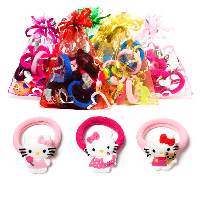 1-8pcs Kitty Hot Cartoon Hair Bands Hairpins Barrettes Kids Headwear Multicolor Girls Ha ...