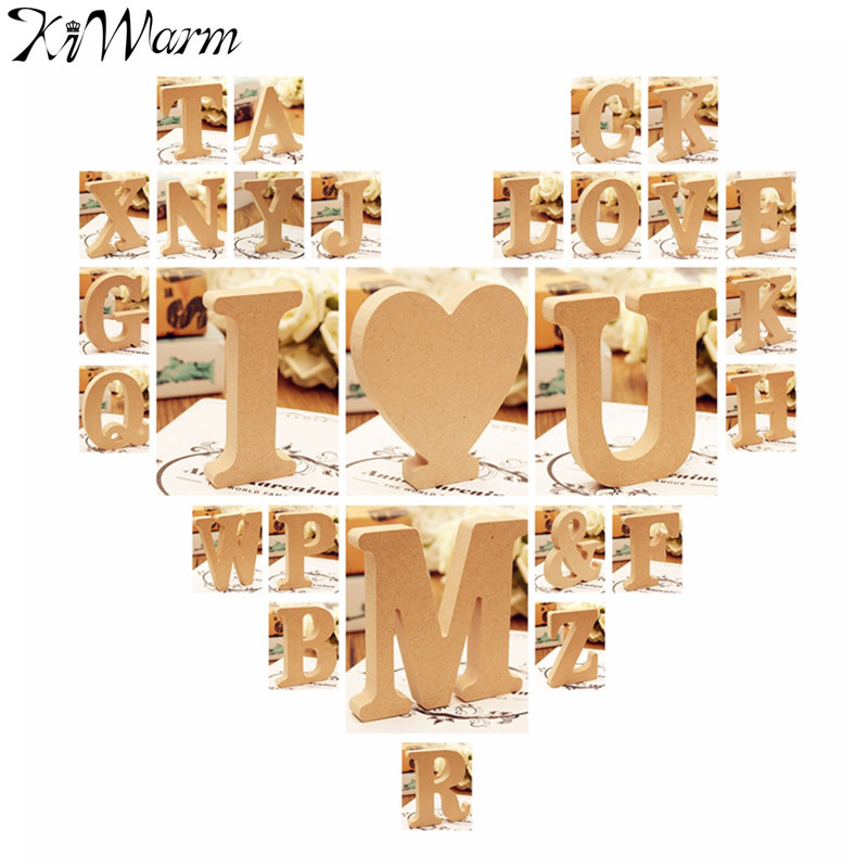 cute diy wood wooden letters alphabet wall hanging nursery decor crafts wedding birthday home decoration wood crafts supplies