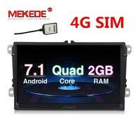 4G Wifi BT Quad Core Pure Android 7 1 Car GPS Navigation For VW Passat POLO