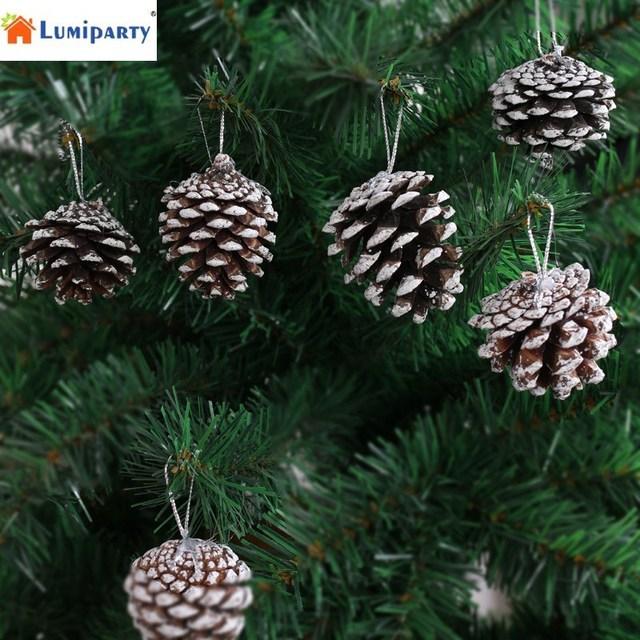 Lumiparty 6 Stks Set 6 Cm Sneeuw Dennenappel Ornamenten