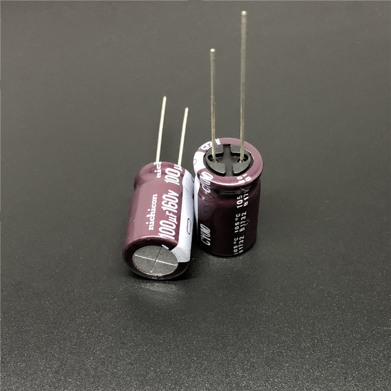 10 Pcs of Nichicon CY 160V 120UF High Ripple Current High Reliability Capacitor
