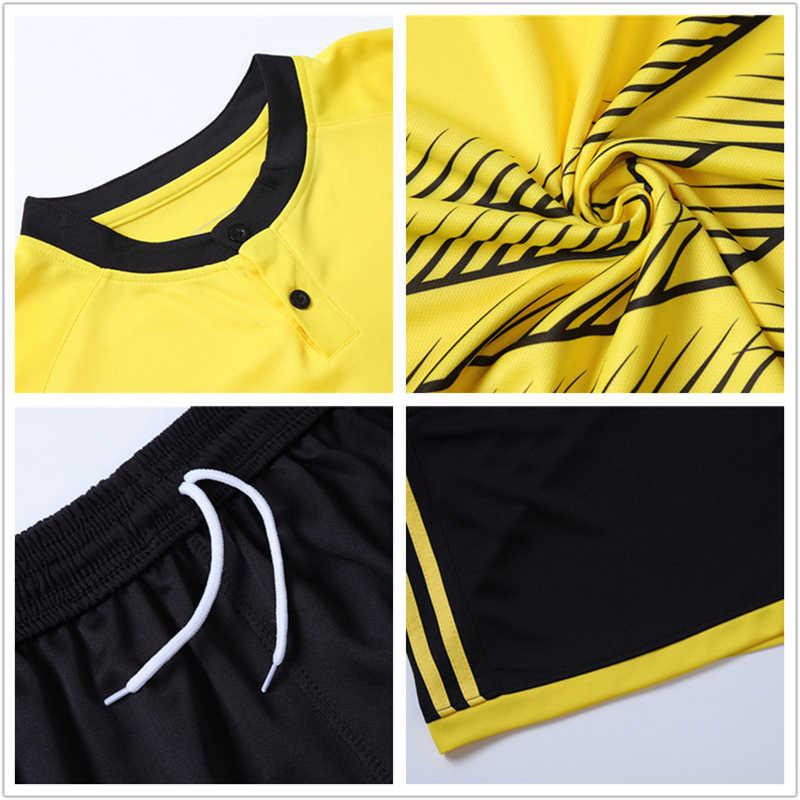 591aec61c ... 2018 Child Kids Men Football Jerseys Kit Long Sleeve Blank Soccer  Training Suit Futsal Team Customized ...
