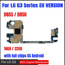 100% Original unlocked for LG G3 D855 D850 Logic Boards for LG G3 D855 D850 Motherboard with Android System 16gb / 32gb(China)