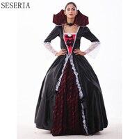 SESERIA Gothic Halloween Dress Petticoat Sexy Vampire Costume Women Masquerade Party Ghost Halloween Cosplay For Women