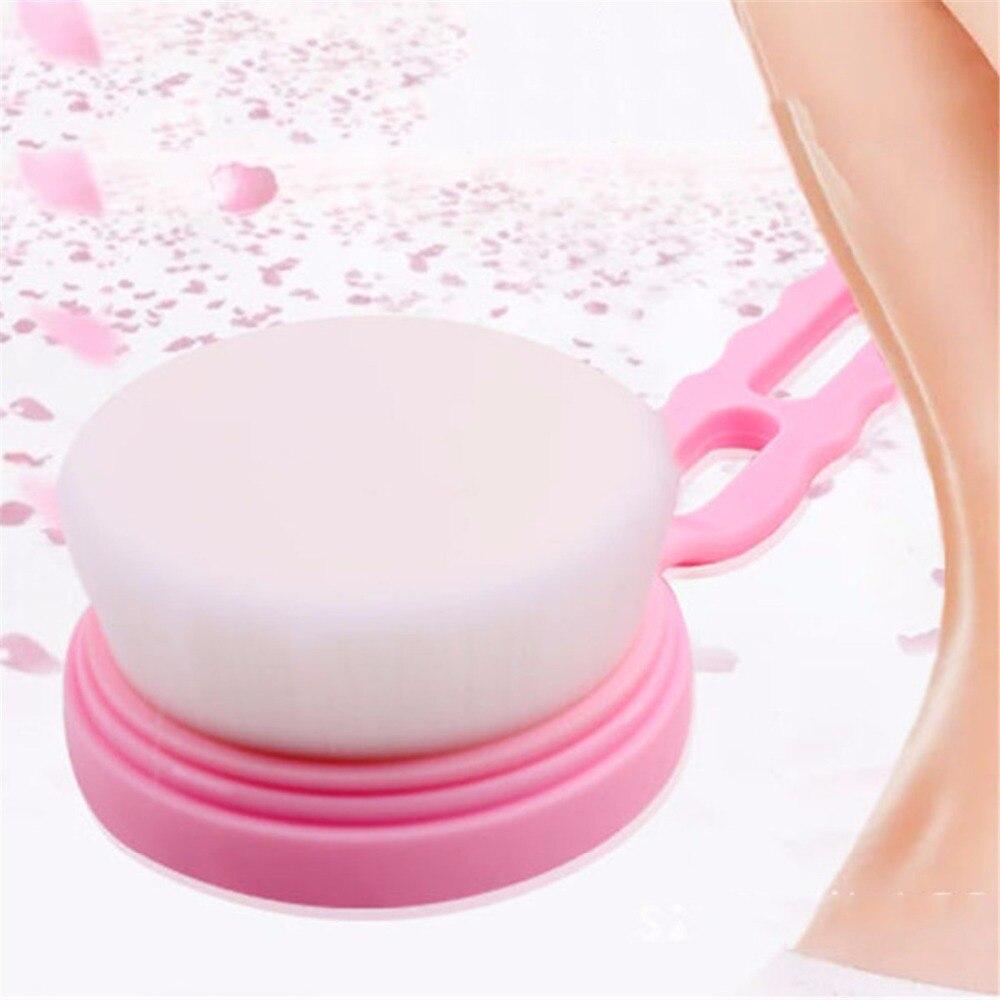 Natural Bristle Bath Brushes Back Long Handle Brush Scrub Skin Massage Shower Fe