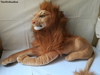 large 75cm simulation lion plush toy prone lion soft doll throw pillow toy Christmas gift h2301