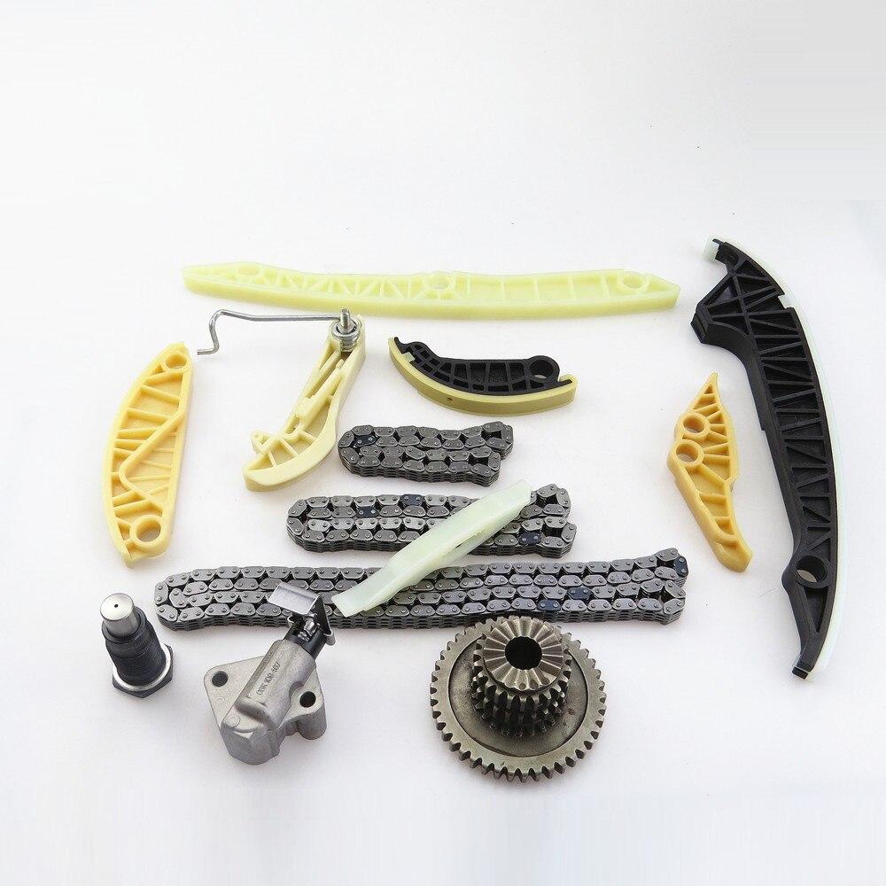 ZUCZUG Qty 13 Car 2.0 t Engine Oil Pump Timing Chain Kit For VW Tiguan Bettle GTI Jetta Passat B6 A4 A5 A6 Q5 TT 06H 109 467 N