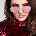2017 New Arrival Hexagon Square Clear Sunglasses Women Fashion Brand Design Men Vintage Metal Steampunk Oculos Feminino Optical