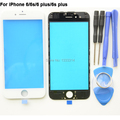 New 6S Front Outer Glass Lens with Middle Frame Bezel Assembly for iPhone 6G 6 plus 6s plus Glass Repair Kits Replacements