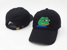 Hombres Mujeres triste Rana bordado ajustable sombrero del papá gorra de  béisbol Pepe vida chupa sombrero 89d3d45ea6b