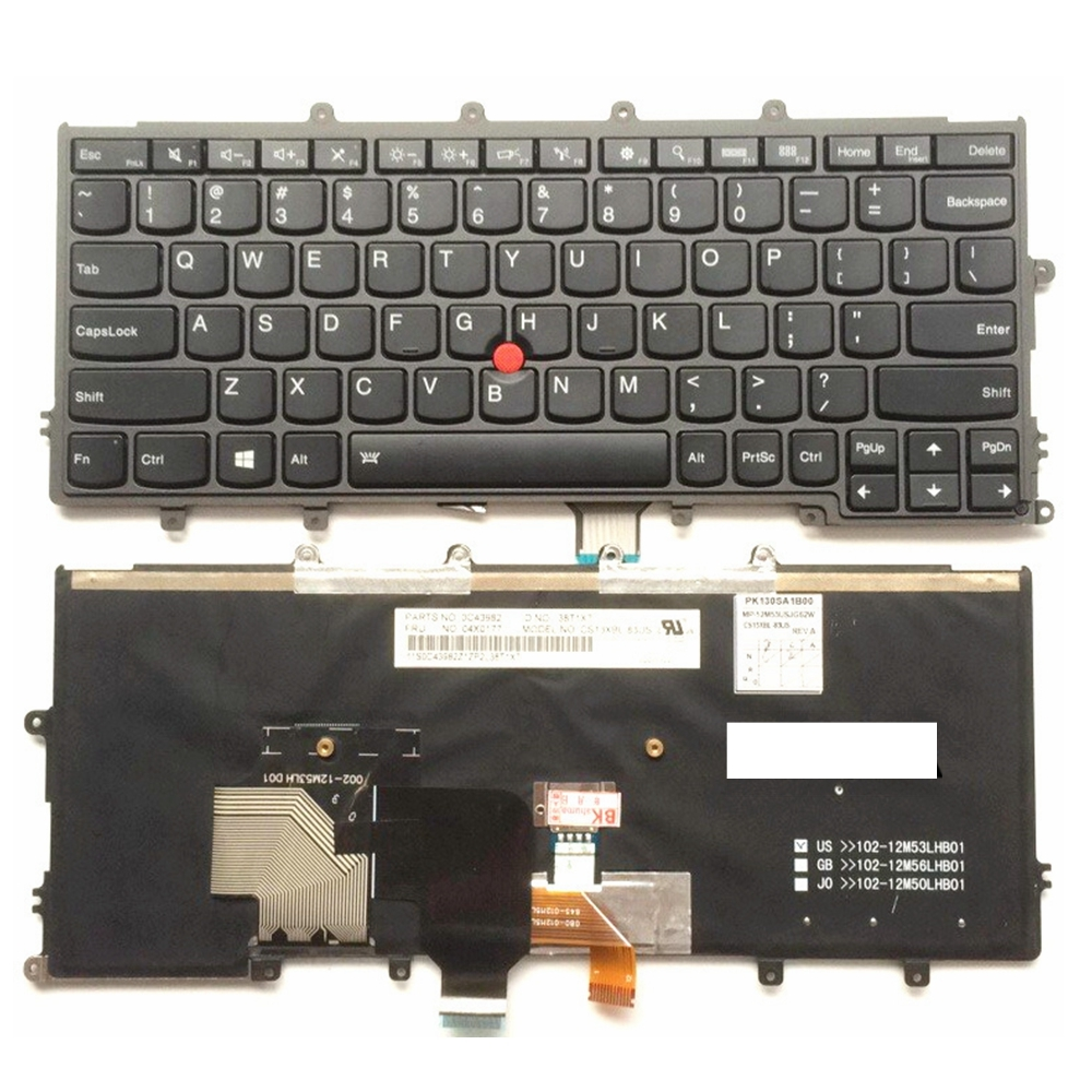 US Black Backlight New English laptop keyboard For Lenovo For IBM x240 x240s x240i  X250 X260S X230S X270 With pointing sticks new laptop keyboard for ibm thinkpad e550 e555 e550c e560 e565 french belgian dutch deutsch german swiss turkish us layout