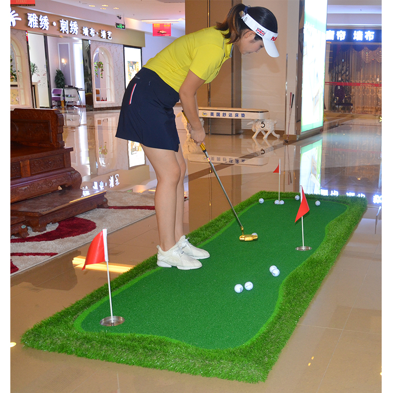Image 3 - FUNGREEN 3x9 ft Indoor&Outdoor Golf Putting Green Practice Turf Putting Mats Golf Training Green With Free Gift-in Golf Training Aids from Sports & Entertainment