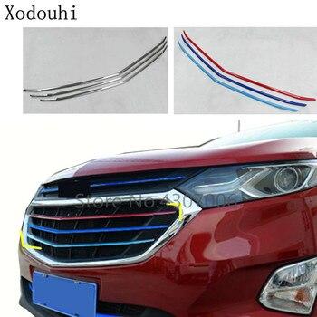 Кузова Стайлинг Защитная крышка из нержавеющей отделкой передней нижней сетки гриль решетка для Chevrolet Equinox Третий GE 2017 2018 2019