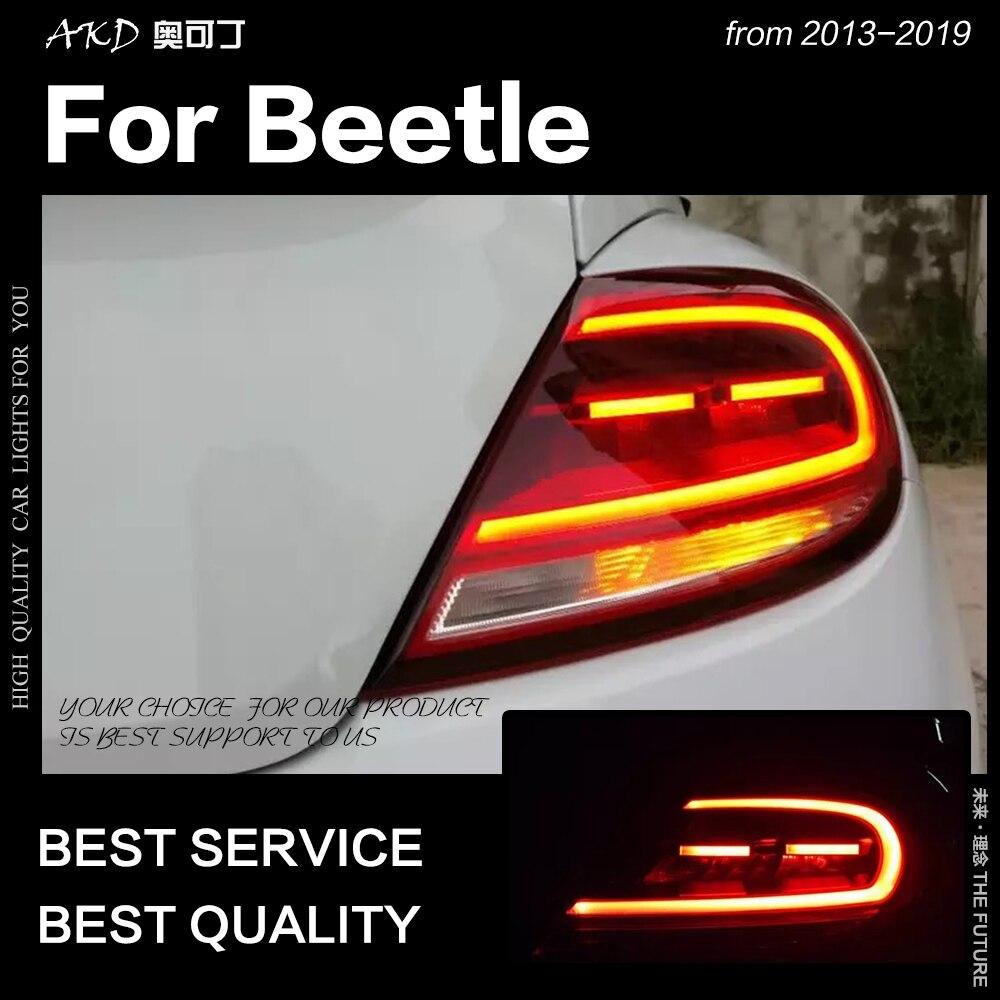 Style de voiture pour VW Beetle feux arrière 2013-2019 halogène Signal feu arrière feu arrière LED DRL frein inverse auto accessoires