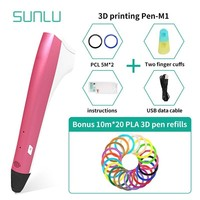 3D Printing Pen With 200m Colorful PLA Filament 1.75mm Box Set Children Explore Brains Gift Box Set 3D Drawing Gadget