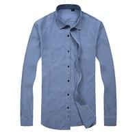Big Size Men S Long Sleeve Plaid Shirt Fashion Business Hot Sales Obese Men Increase Size