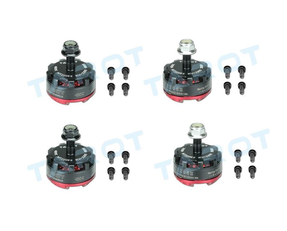 4 X Tarot MT2205 II 2300KV Brushless Motor 2 CW 2 CCW For Drone 180//190//200//220