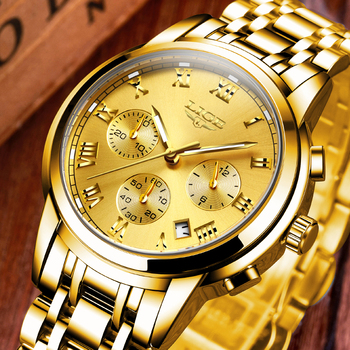 LIGE Men's Fashion Brand Multifunction Chronograph Quartz Wristwatches 1