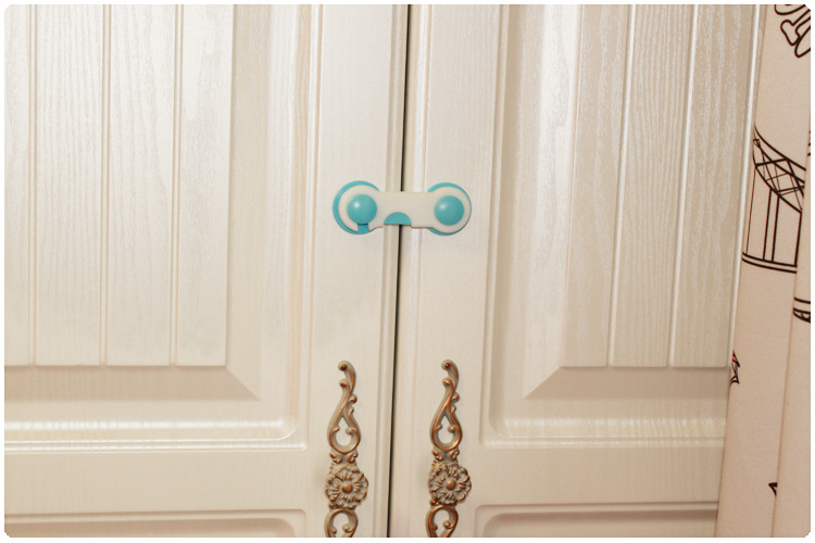 1 bag 2pcs Baby safe products Baby care cabinet Lock Straps Child Baby Safety Lock