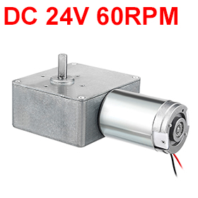 Uxcell New Arrival 1PCS 20 x 8mm DC 24V 60RPM High Torque Reversible Turbine Worm Gear Motor Reduction w Carbon Brushes