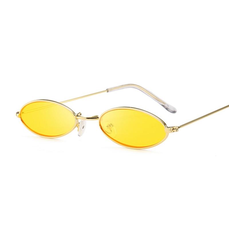 Retro Small Oval Sunglasses Women Female Vintage Hip Hop Balck Glasses Retro Sunglass lady Luxury Brand