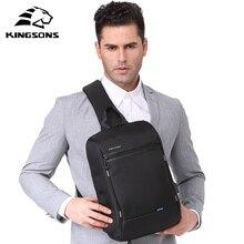 Kingsons 13 sac de poitrine noir unique sacs à bandoulière avec USB charge étanche en Nylon sacs à bandoulière sacs de messager vente chaude