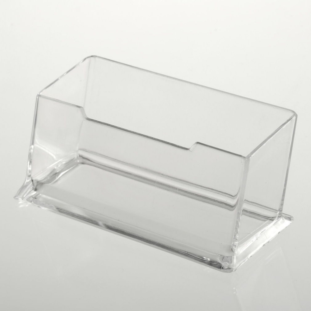 Clear Desktop Business Card Holder Display Stand Acrylic Plastic ...