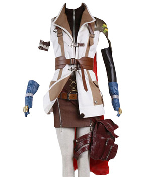 Costume Cosplay Final Fantasy XIII FF 13 Lightning Cosplay Costume Halloween Carnival Adult Women Custom Made Full Sets