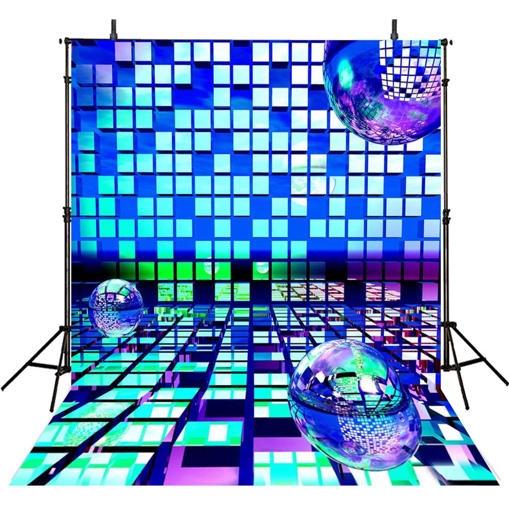 Led Dj Light Stage Disco photo backdrop Vinyl cloth High quality Computer print party Photography Backgrounds decorations tree fireplace light room scene photo backdrop high quality vinyl cloth computer printed christmas backgrounds