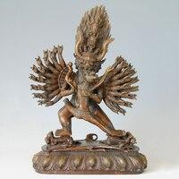 ATLIE BRONZES large size bronze Buddha Yamantaka statue sculpture gifts Religious figure of Buddha
