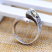 Thai silver wholesale jewelry retro Thai silver s925 silver ring opening men Virgin Mary Ms. factory direct free shipping