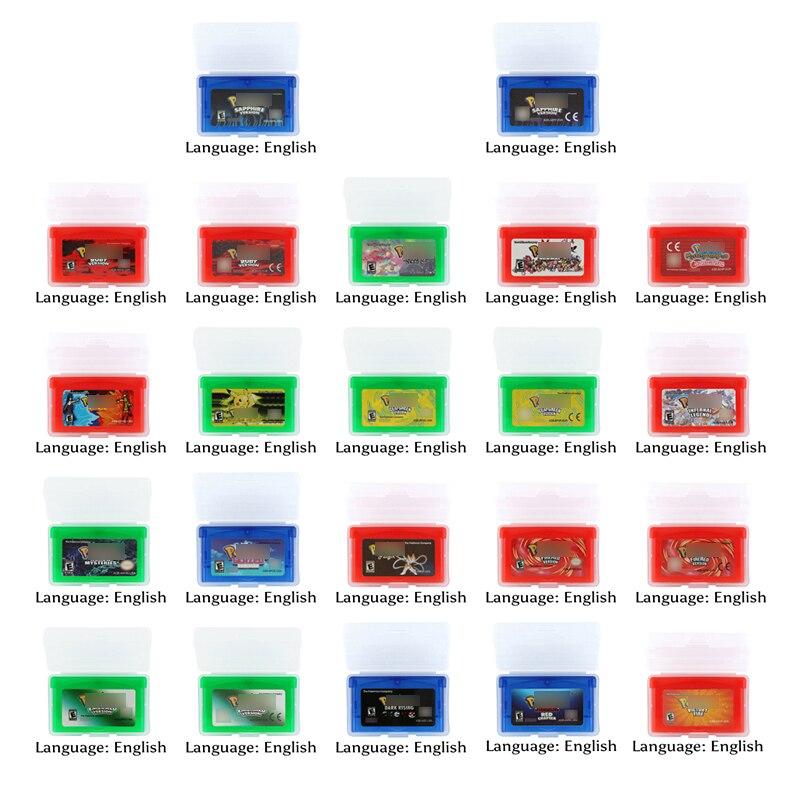 32 Bit Video Spiel Patrone Konsole Karte Pokemonn Serie 1 Englisch Sprache
