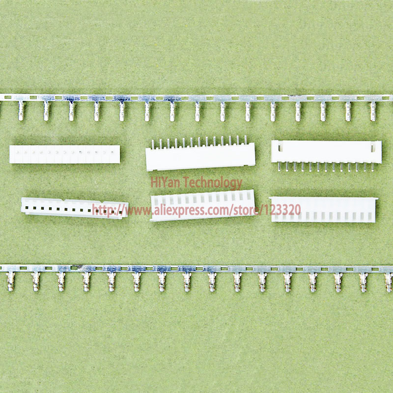 (50sets/lot) connector XH2.54 13Pin 180degrees Pitch:2.54MM 0.1inch 13A Pin Header + Terminal + Housing XH2.54-13P