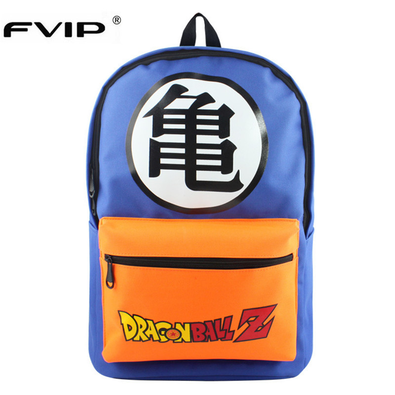 Fvip Dragon Ball Z Teenagers Backpacks School Bag Dragon Ball Backpack Bag Men Boys Travel Bagpacks Mochila Bolsas Escolar
