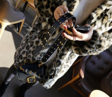 Femmes 2018 Plus Taille Fausse Z296 Léopard Femme Outwear Fourrure Artificielle De Hiver Faux La Veste Manteau T08wS
