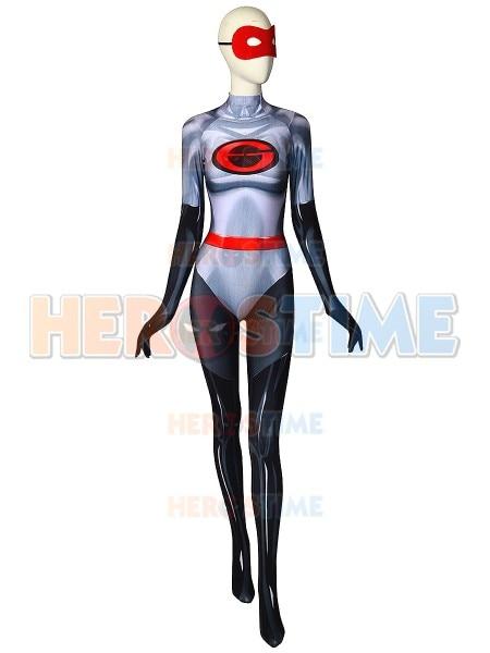 The Incredibles 2 Elastigirl Cosplay Costume 3D Printing Spandex Adult Women Superhero Halloween Party Catsuit Custom made
